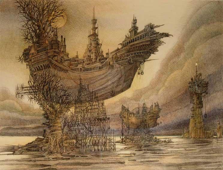 Art fantastique peintures fantastiques bernard jan - Salon du dessin et de la peinture a l eau ...