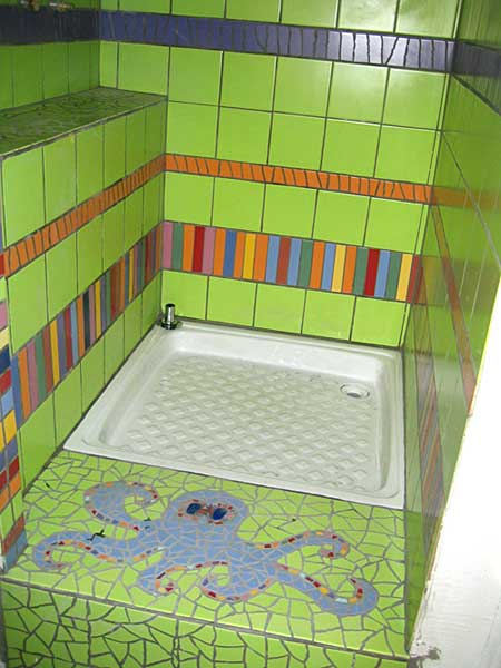 Salle de bain d coration odile maffone mosaiste for Decoration de douche