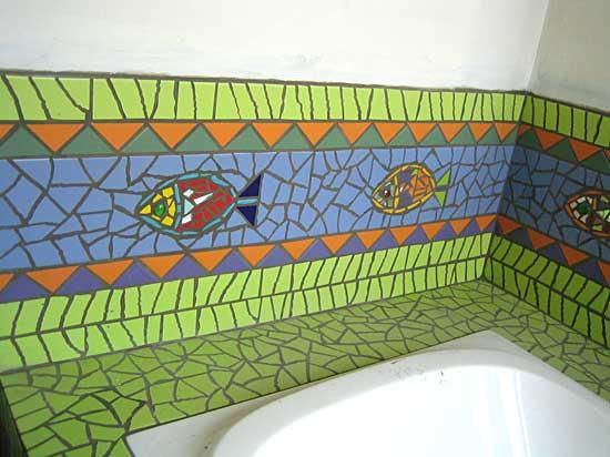 Salle de bain d coration odile maffone mosaiste for Frise mosaique salle de bain